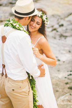 Oahu Destination Wedding at Waimanalo Beach