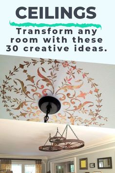 You've done the accent wall, but have you thought about that big, blank canvas over your head? #diy #diyhomedecor #ceilings