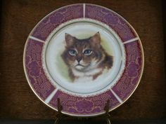 Vintage English Cat Plate Wall Hanging by EnglishShop on Etsy, $59.00