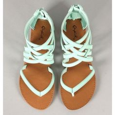 Qupid Athena-566 Strappy Gladiator Thong Flat Sandal $16.30