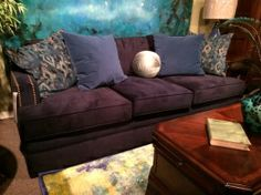 Bacara couch. Perfect for a pop of color in the living room #livingroom #furniture #designs #decor explore freeds.net