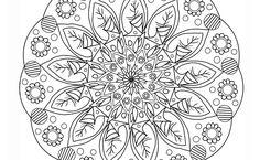 Imprimer et colorier un mandala fleurs - Royal talens Mandalas, Mandala Coloring, Lace, Flowers, Bricolage