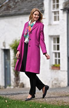 House of Bruar Ladies Cashmere Single Breasted Three Quarter Coat from House  of Bruar Soft Classic 7ed857353