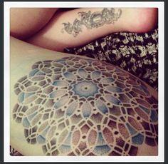My mandala tattoo by Tamara Lee at The Cirle London