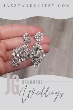 A fabulous pair of vintage style, these bridal earrings are handcrafted. Bold crystal drop earrings that make a statement with any style bridal gown. Chandelier Earrings, Crystal Earrings, Diamond Earrings, Drop Earrings, Vintage Wedding Jewelry, Silver Wedding Jewelry, Decorative Hair Combs, Ivory Pearl, Crystal Drop