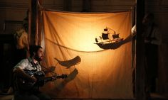 Shadow puppets on the sheet? If it's already there for projections, could we utilize it more for cool shadow puppets? Shadow Film, Shadow Play, Set Design Theatre, Stage Design, Shadow Theatre, Children's Theatre, Ideias Diy, Shadow Puppets, Stage Set