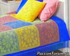 Красивый постельный комплект. Филейное вязание крючком