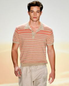 "!Francisco Lachowski in Perry Ellis  ""The striped Ban-Lon polo.""  http://gqm.ag/pHTnPx"