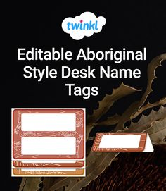 These classroom desk name tags are printable and beautifully decorated with Aboriginal style borders.   Clear up the confusion when supply teachers come to visit and help students learn each others names at the start of the year. These desk name tags can help students feel a stronger sense of belonging in the classroom.  They're so easy to download and edit, making your life easier. They're also printable and convenient to use. Desk Name Tags, Naidoc Week, Classroom Desk, Confusion, Student Learning, Students, Paper Crafts, Printable, Cards Against Humanity