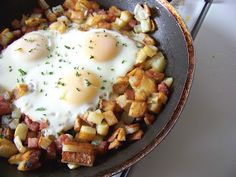 The Potato Stories: Ham and Eggs Hash