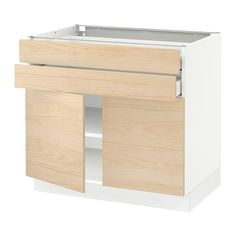 8b8d0daa33 SEKTION Base cabinet with 2 doors 2 drawers - white