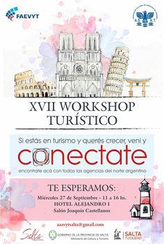 Se realizará hoy el XVII workshop de la Asociación Salteña de Agencias de Turismo: Será en el marco del Día Mundial de Turismo y contará…