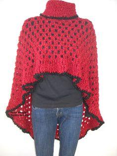 Fabulous Crochet a Little Black Crochet Dress Ideas. Georgeous Crochet a Little Black Crochet Dress Ideas. Crochet Poncho Patterns, Crochet Scarves, Crochet Shawl, Crochet Clothes, Black Crochet Dress, Love Crochet, Knit Crochet, Crochet Tutorial, Crochet Fashion