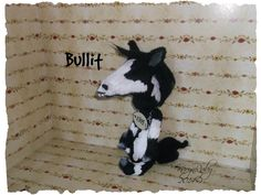9 inch 'Bullit'   Vintage Style Viscose Pinto Horse by Artist KarynRuby - pinned by pin4etsy.com
