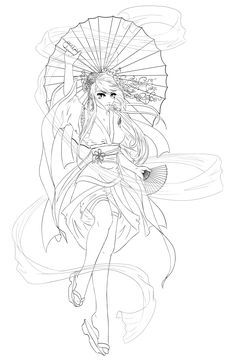 Fox girl lineart by legal digi images pinterest art girls and - Manga coloriage elfe ...