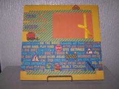 Boy scrapbook page. 12 x 12 baby boy. Scrapbook by 1OfAKindCrafts