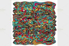 seamless abstract pattern Graphics colorful seamless abstract of hand-drawn pattern, waves background1 - File Vector (.eps)1 - File by Vector&VideoArtShop
