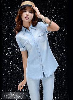 #Petty #Shirts #Style Fun Korean Style Slim Split Joint Petty Flowers Shirt
