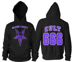 Cult 666 - Hooded Pullover Sweater – Blackcraft Cult Ugly Sweater, Sweater Hoodie, Pullover Sweaters, Men Sweater, Mens Sweatshirts, Mens Tees, Metal Shirts, Hoods, Vest