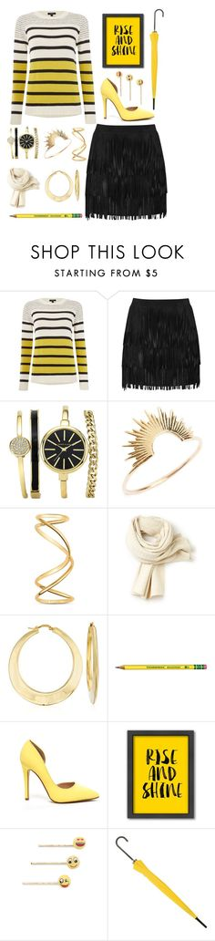 """""""Rise and Shine, Bumblebee"""" by jakenpink ❤ liked on Polyvore featuring Therapy, Alice + Olivia, Sarah & Sebastian, Maison Margiela, Lacoste, Ross-Simons, Americanflat, Venessa Arizaga, women's clothing and women"""