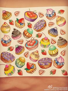 Adult Coloring Books Book Art Pencil Dessert Colored Pencils Wonderland Alice Artworks