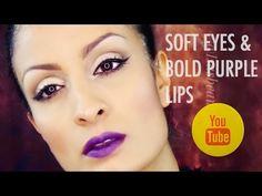 Soft eyes & Bold Purple Lips | Isasbeautyspace