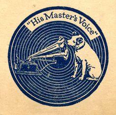 "vinylespassion: "" His Master's Voice "" Vinyl Record Shop, Vinyl Records, 78 Records, Record Label Logo, Orange Monkey, Vinyl Board, His Masters Voice, Record Players, Tattoo Ideas"