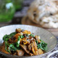 Mushroom and potato curry