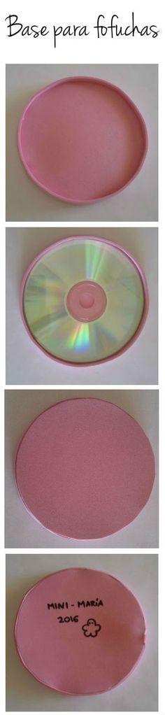 Base para fofuchas goma eva y CD by eldesastredemaria