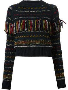 Chloé Fringed Sweater - Hirshleifers - Farfetch.com