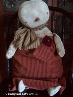 Reserved listing for Theresa Primitive Snow Girl by Theredcupboard