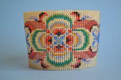 Beaded Bracelet Beaded Loom Bracelet Seed Bead by corporateschmad, $50.00