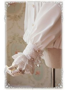 Princess Style Long Sleeves Blouse - by Infanta Cute Formal Dresses, Stylish Dresses, Sleeves Designs For Dresses, Prom Dresses With Sleeves, Look Vintage, Vintage Style Dresses, Indian Fashion Dresses, Fashion Outfits, Iranian Women Fashion