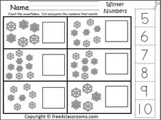 Snowflake Counting Game | Numbers | Pinterest | Number activities ...