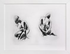 Gestural Figures in Charcoal by Becky Nimoy at minted.com
