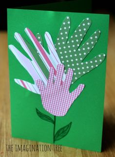 Handprint card and framed artwork craft for Father's Day