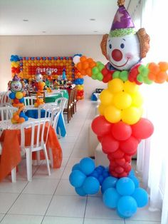 Clown!..Pairs well with our BOZO Bounce and Ball Pit Inflatable from Big Adventure Inflatables!  www.bigadventureinflatables.com