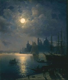 Ivan Constantinovich Aivazovsky.    He is really good with his sky tones.  Love the clouds....he's excellent with water and sky.  Beautiful!                                                              -Penny-