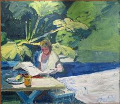 Paul Wonner The Newspaper 1960 painting | oil on canvas