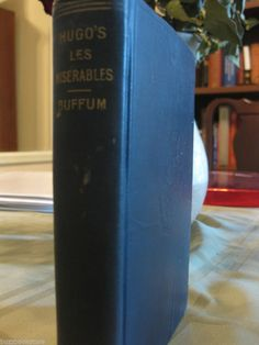 1908 Les Miserables by Victor Hugo Vintage/Antique Old Book in French RARE