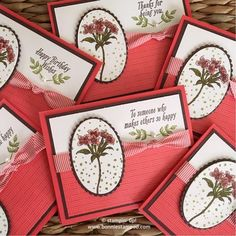 """For the 4th card this week featuring the Avant Garden Stamp Set, I picked the other flower in the stamp set. It is a more """"realistic"""" image then the whimsical flower. In case you didn't notice, all 4 cards, I use Chocolate Chip card stock as my layering piece. I did this on purpose. You …"""