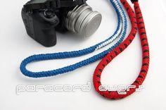 Camera straps, 4 strand round braid and 6 strand round braid
