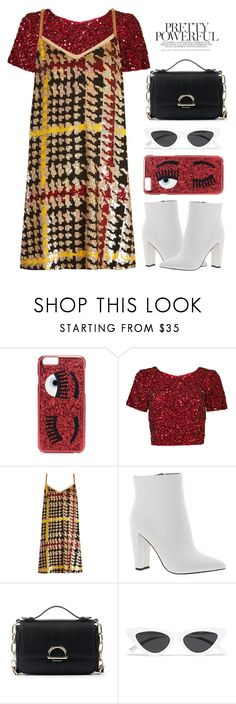 """BE YOU"" by fcris7176 ❤ liked on Polyvore featuring Chiara Ferragni, Parker, Ashish, Jessica Simpson, Sole Society and Le Specs"