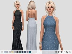 Comes in 12 colours.  Found in TSR Category 'Sims 4 Female Formal'