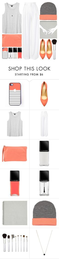 """""""Coral."""" by mhurtiz ❤ liked on Polyvore featuring Charlotte Olympia, Monki, sass & bide, 3 Chic, Illamasqua, Sonia Kashuk and Monique Péan"""