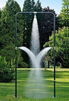 Heerlijk buiten douchen
