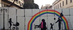 """Cairo's street artists turn concrete walls into works of art:  """"No Walls"""" Campaign"""