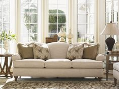 Come home to the new look of traditional style and comfort with the Montgomery Sofa. Taking a classic silhouette and streamlining the design for a new interpretation of timeless, this sofa offers the perfect balance of formal fashion and casual relaxation perfect for any entertainment area in your home. Whether you need space to seat visiting friends and family or a place to stretch out and enjoy your favorite television show, the Montgomery Sofa makes a welcoming location to center all…