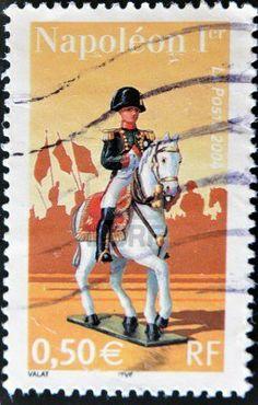 FRANCIA - CIRCA 2004: Un sello impreso en Francia muestra a Napole�n I, alrededor del a�o 2004 photo