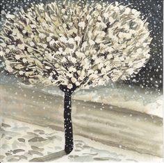 'Snowtree' watercolour  19 X 19